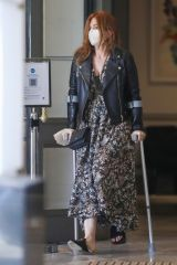 Isla Fisher Going to and leaving St Vincent Clinic in Sydney