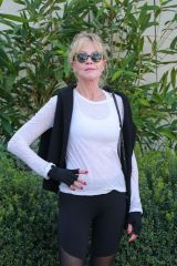Melanie Griffith Leaving a girls brunch with her BFF Eva Longoria at San Vicente Bungalows in West Hollywood