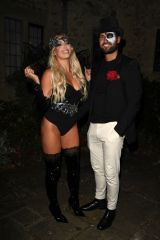 Amber Turner At The Only Way is Essex TV Show filming, Halloween Special, Lympne Castle, Folkstone