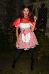 Amy Childs At The Only Way is Essex TV Show filming, Halloween Special, Lympne Castle, Folkstone