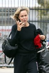 Melora Hardin Seen arriving and smiling practice at the dance studio on Saturday in Los Angeles