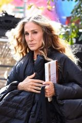 Sarah Jessica Parker At the set of 'And Just Like That' in Brooklyn New York