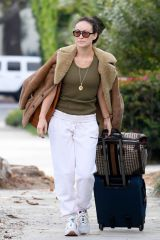 Olivia Wilde Pictured heading out with luggage in Los Angeles