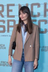 Clara Luciani At The French Dispatch Premiere at the UGC Cine Cite Bercy in Paris