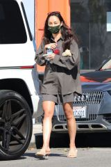 Cara Santana Spotted leaving a skin care clinic on Melrose in West Hollywood