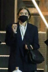 Mary-Kate Olsen Makes a rare public appearance as she picks up a friend before grabbing dinner in New York
