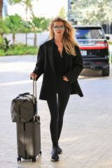 Frida Aasen Arriving for the Michael Kors X 007 event in Miami