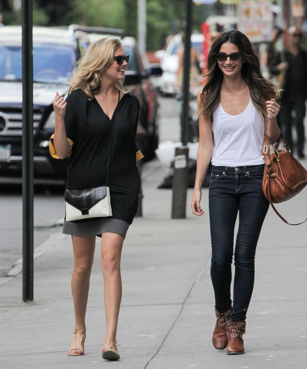 Kate Upton And Lily Aldridge Out In NY