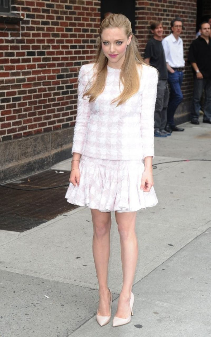 Amanda Seyfried At The Late Show With David Letterman