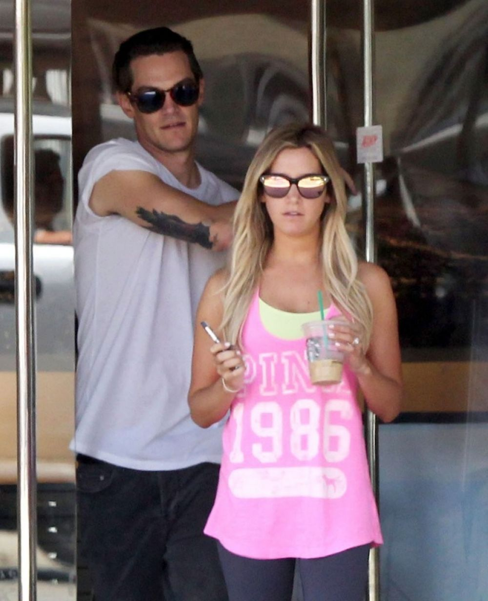 Ashley Tisdale And Christopher French Together In West Hollywood