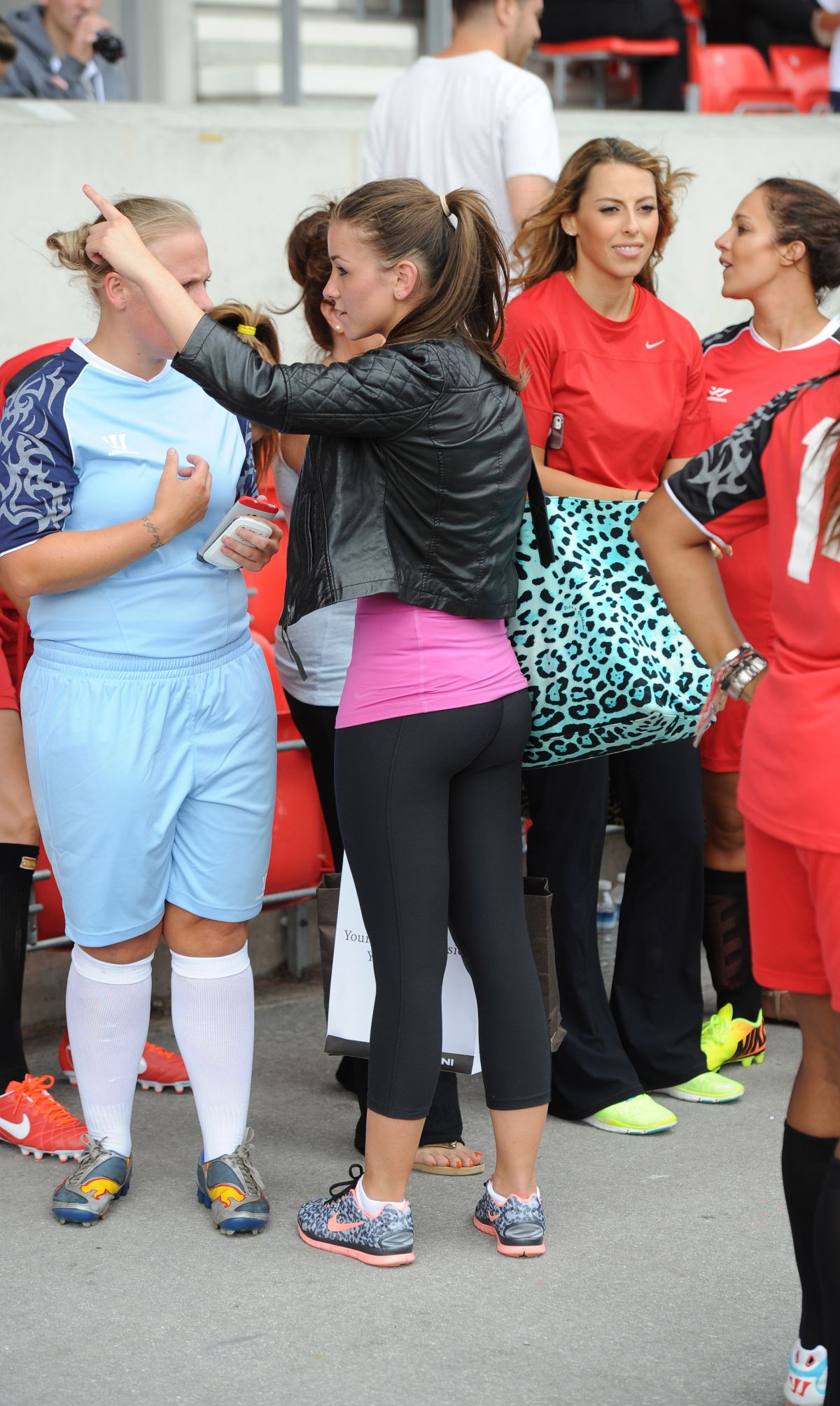 Brooke Vincent At The One Goal Foundation At Salford City Stadium In Manchester