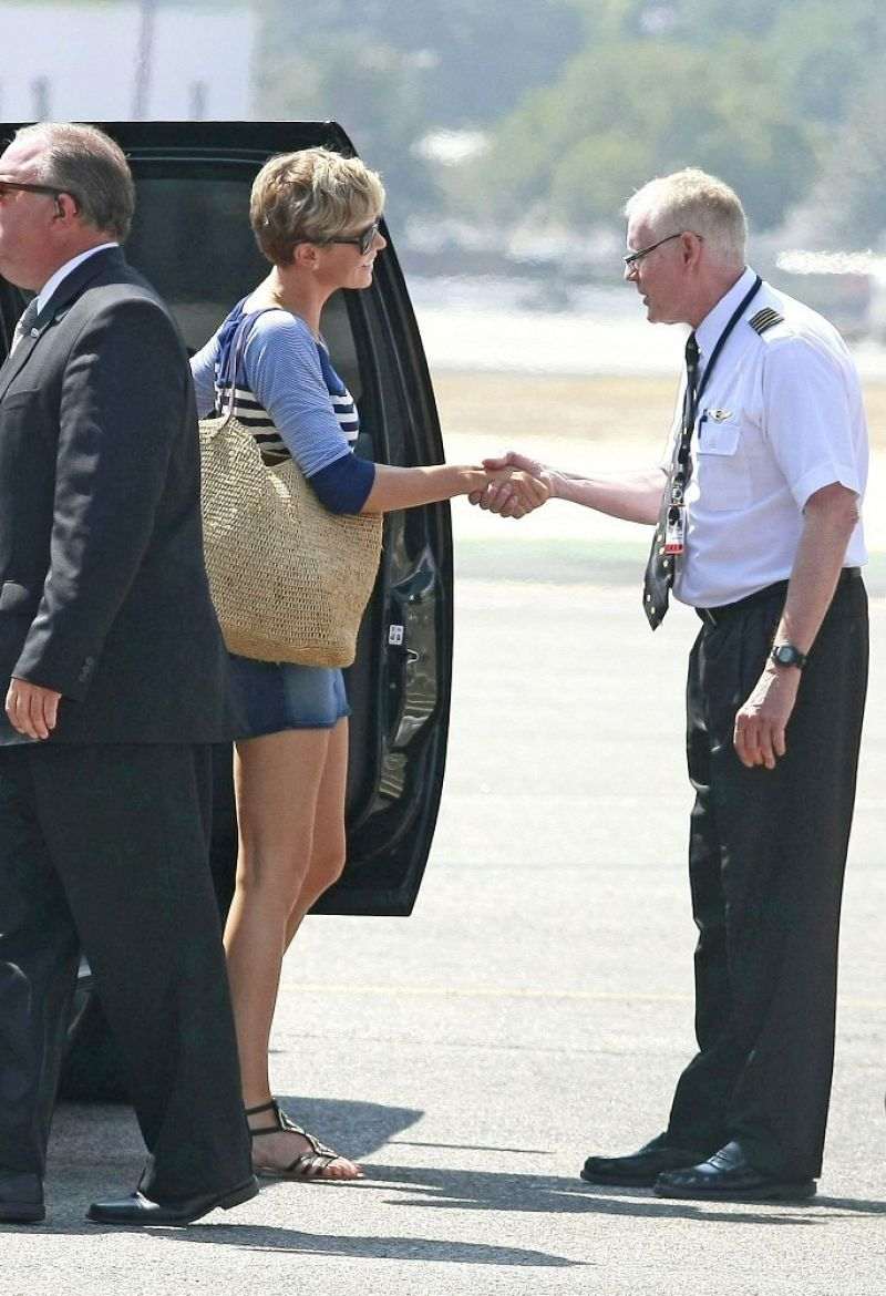 Charlize Theron At Burbank Airport