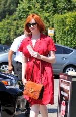 Christina Hendricks Arriving To A Party In LA