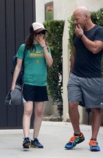 Ellen Page And Her Hat Out In West Hollywood