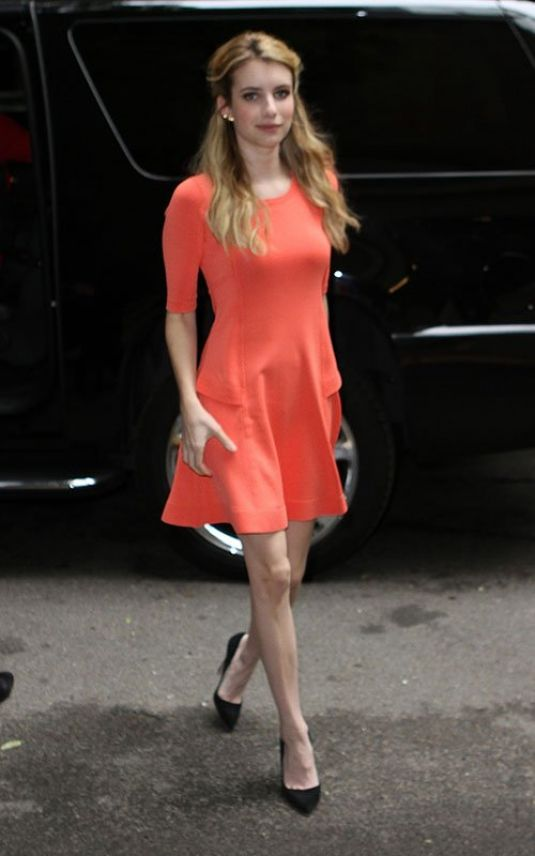 Emma Roberts At Live With Kelly And Michael In NYC