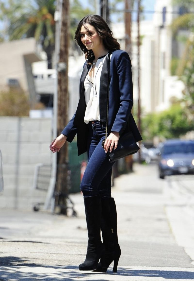 Emmy Rossum Out In Brentwood