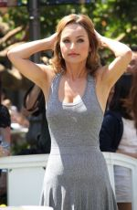 Giada De Laurentiis On The Set Of Extra In LA