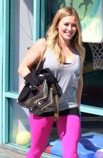 Hilary Duff Leaves The Gym In West Hollywood
