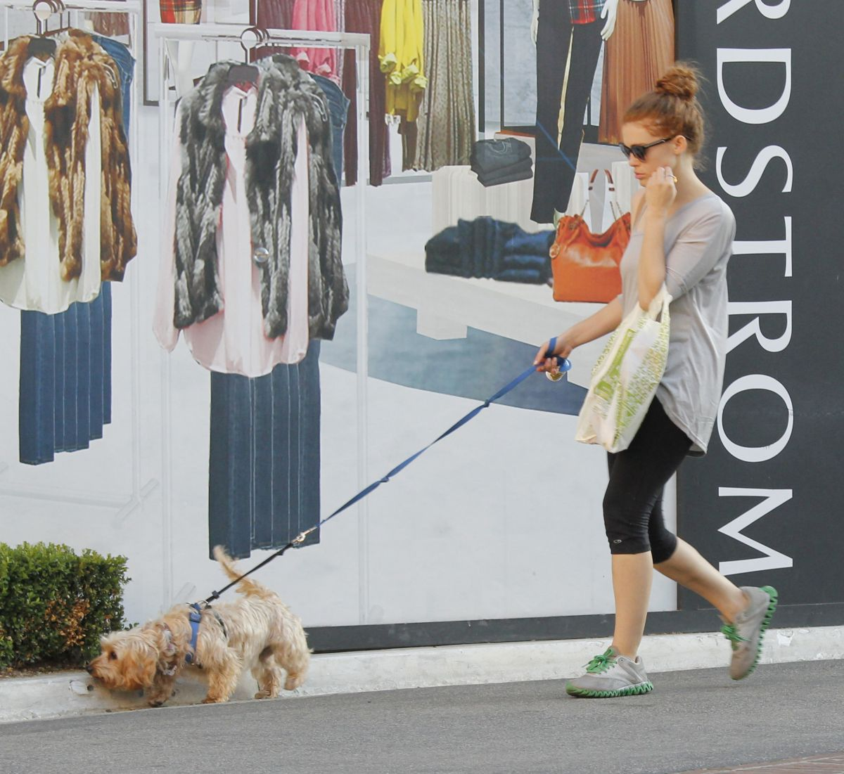 Holland Roden Walking Her Dog In West Hollywood