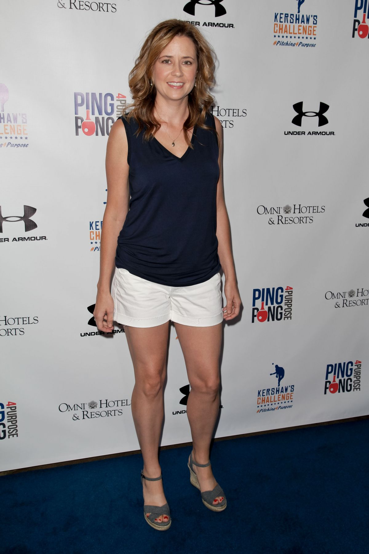 725642f184f5c Jenna Fischer At Inaugural Ping Pong 4 Purpose Charity Event In LA ...