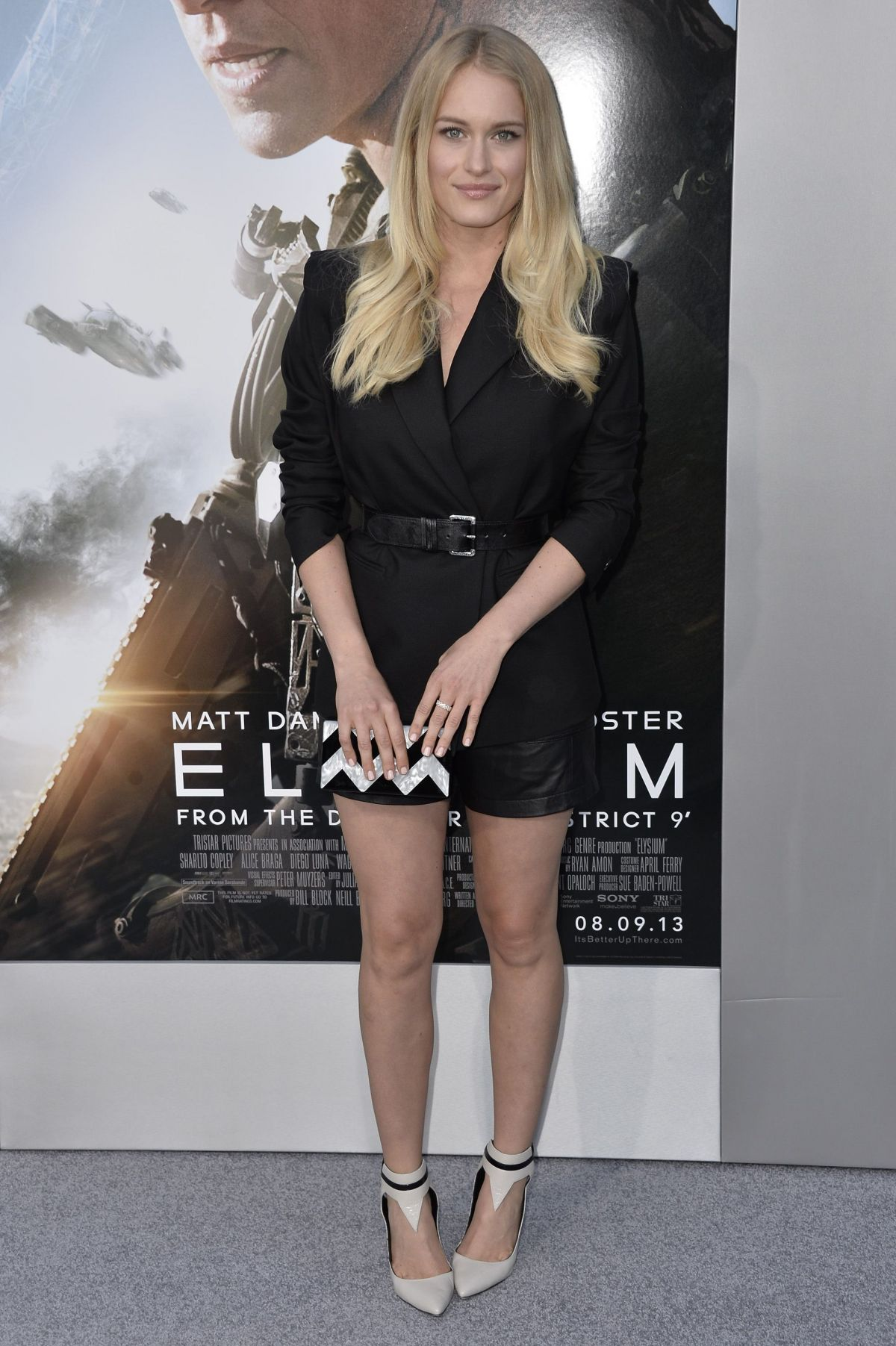 Leven Rambin At Elysium Premiere In Westwood