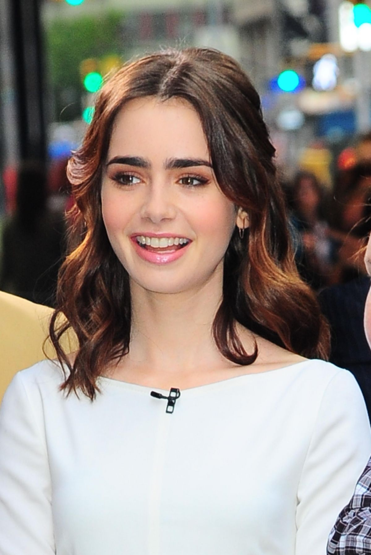 Lily Collins Good Morning America Studios Nyc