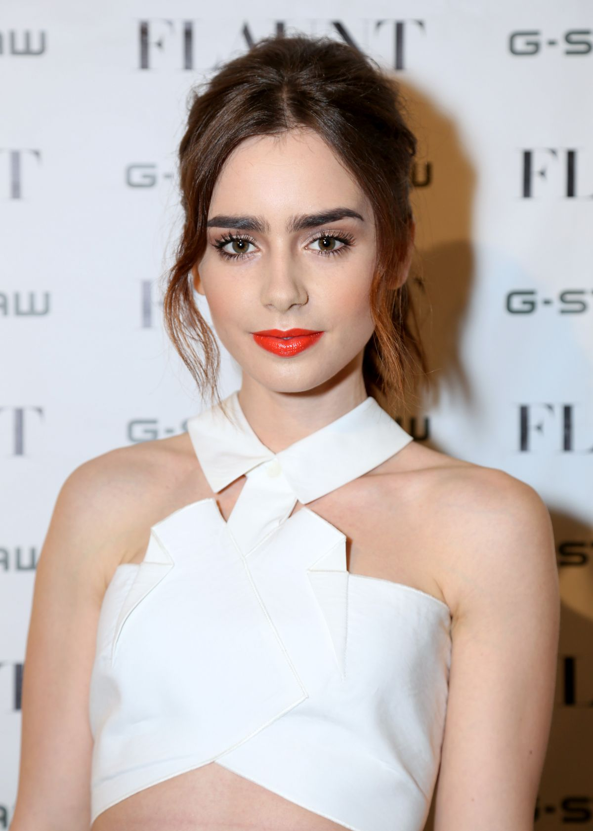 Lily Collins At The Flaunt Magazine Dye Issue Pre-Release Party In LA