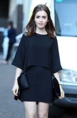 Lily Collins At The ITV Studios In London