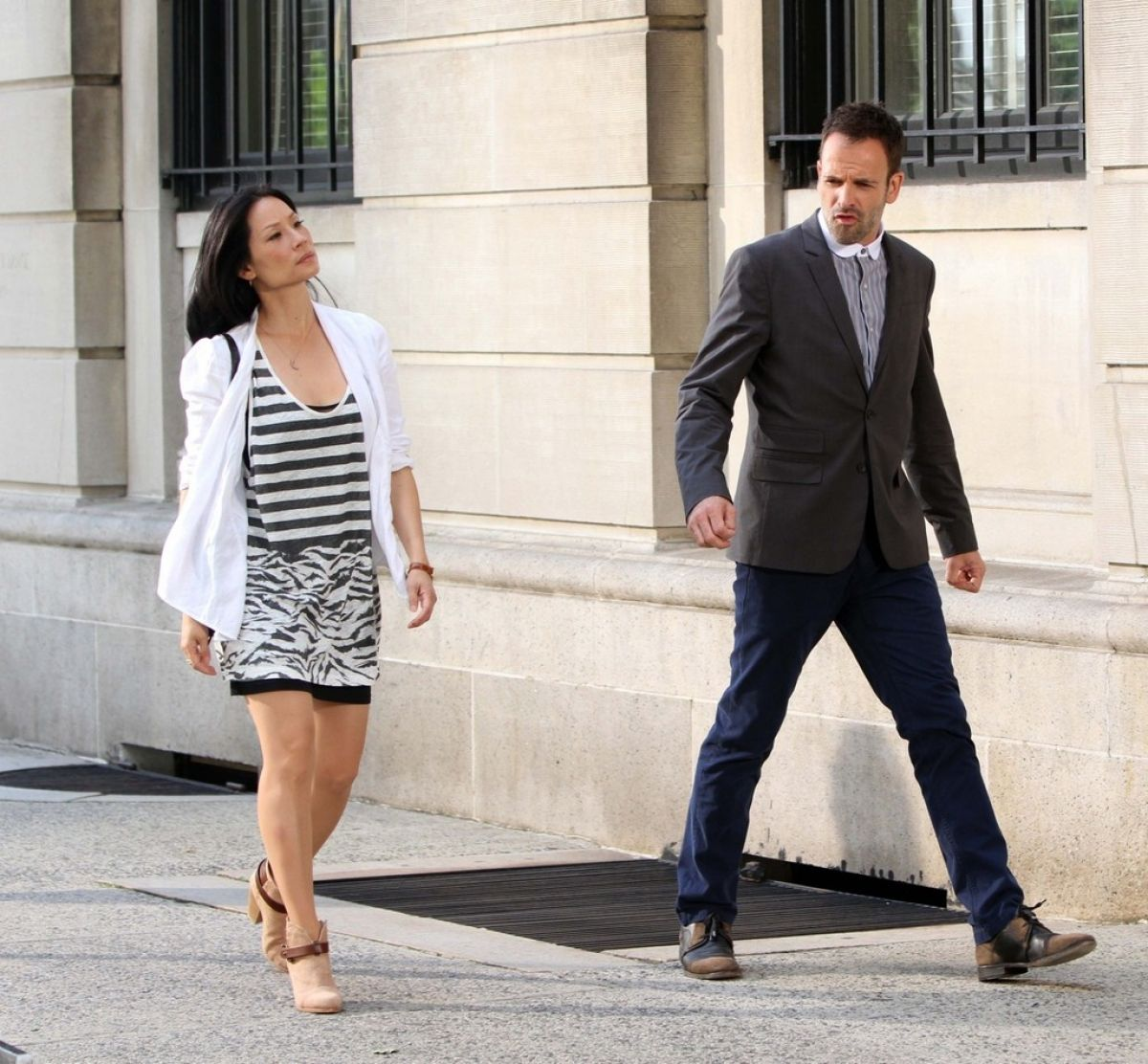 Lucy Liu On The Set Of Elementary In NYC