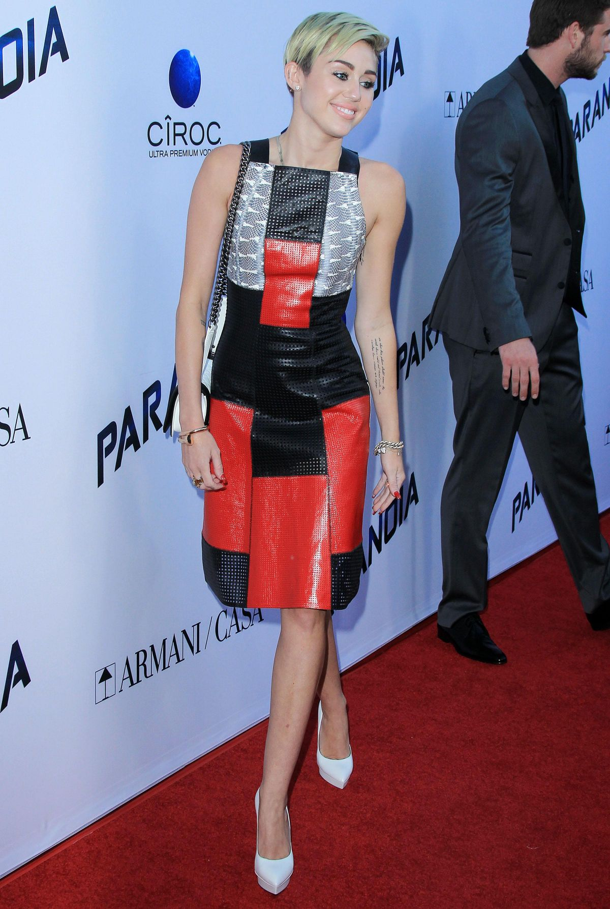 Miley Cyrus At Paranoia Premiere At The DGA Theater In LA