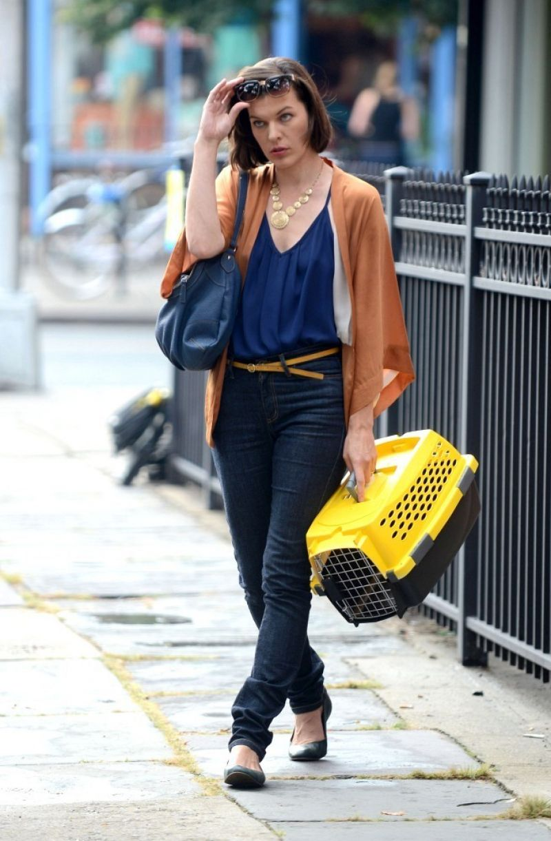 Milla Jovovich On The Set Of Cymbeline In NYC