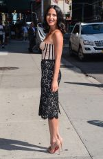 Olivia Munn At The Late Show With David Letterman In NYC