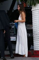 Olivia Wilde Wears A White Dress To The Chateau Marmont In Hollywood