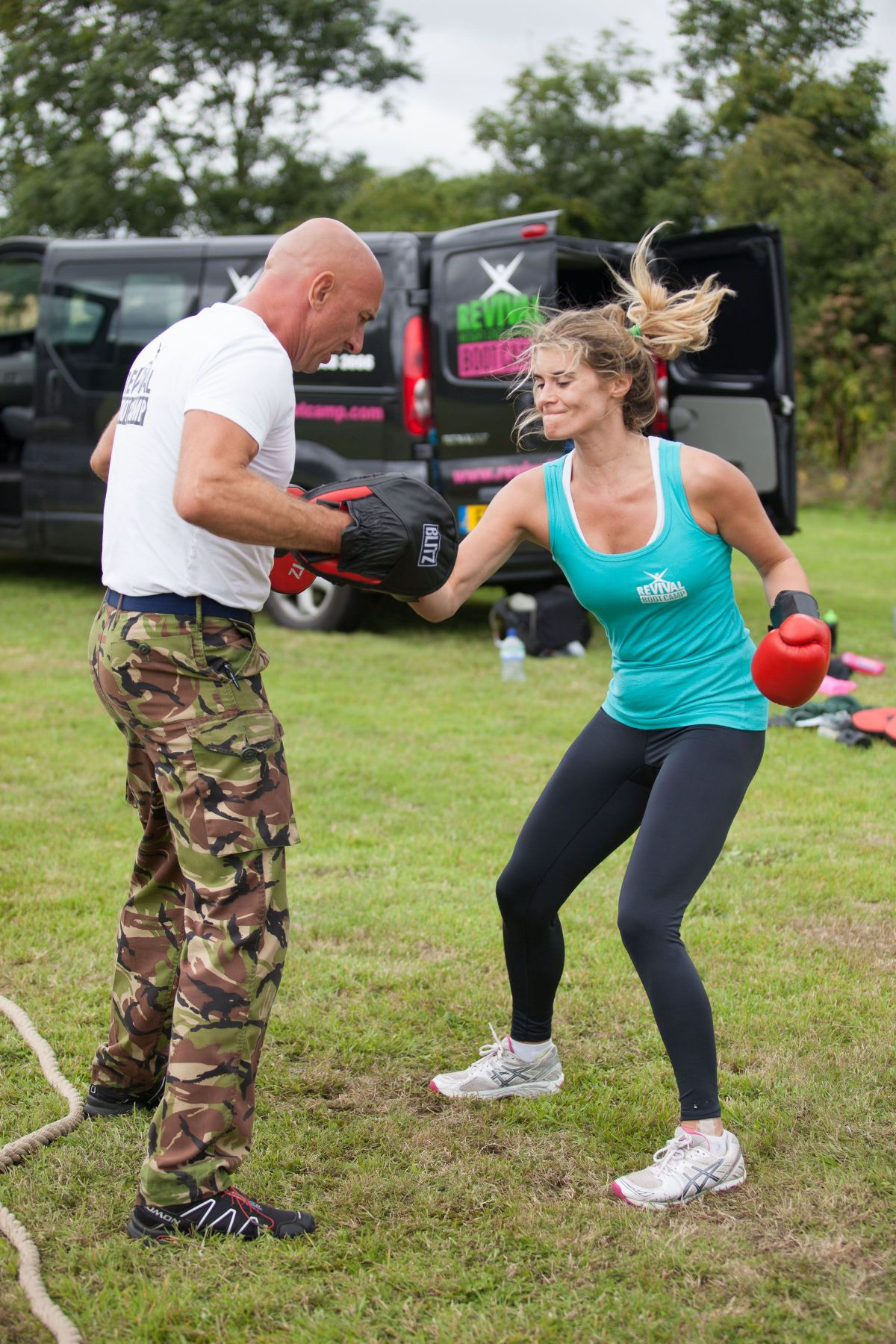 Rachel Shenton & Kim Tiddy At A Revival Bootcamp Session