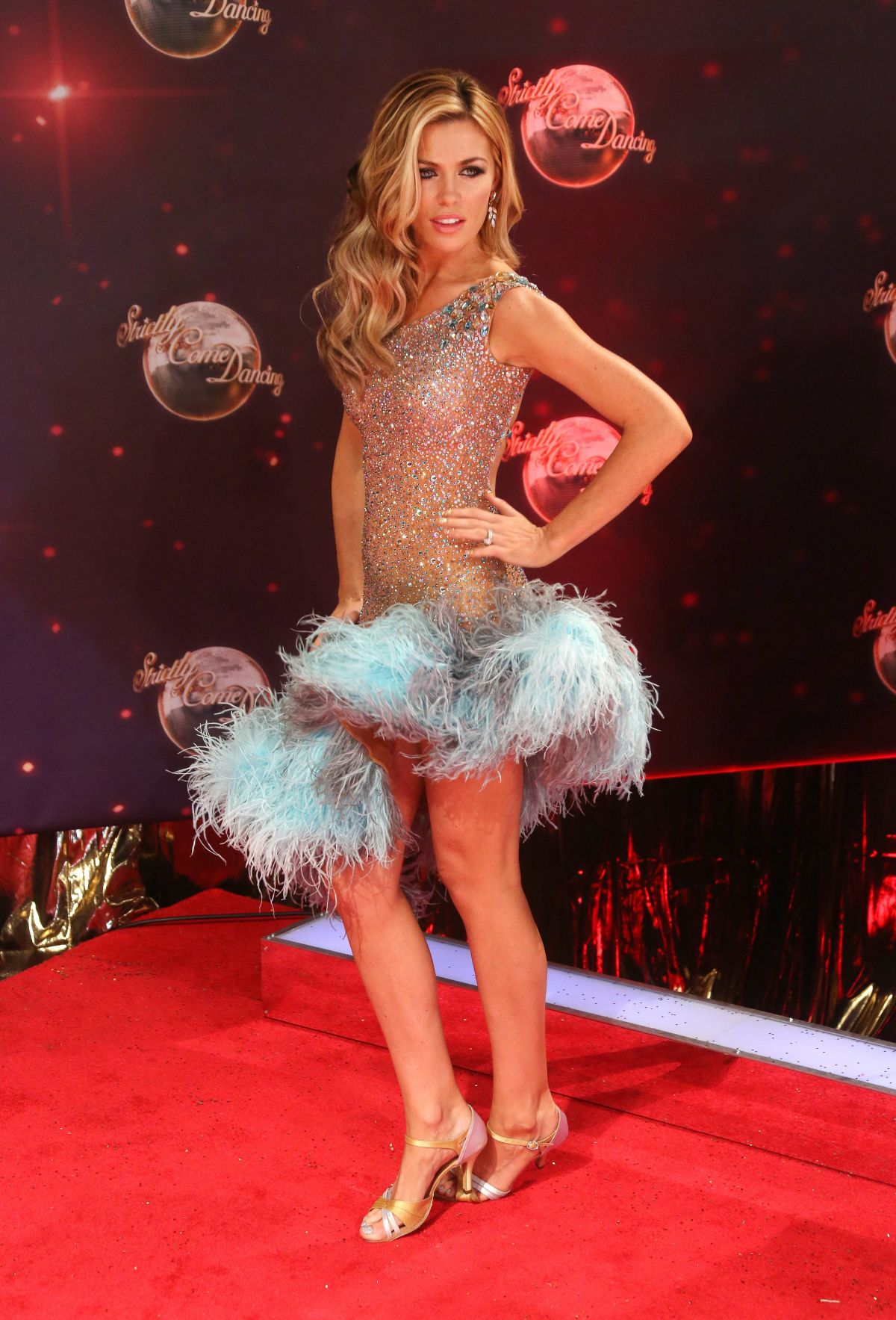 Abbey Clancy At Strictly Come Dancing 2013 Launch In London