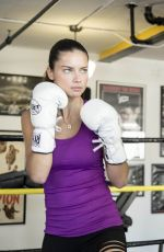 Adriana Lima At A Workout For AMAZON Beverages At NYFW