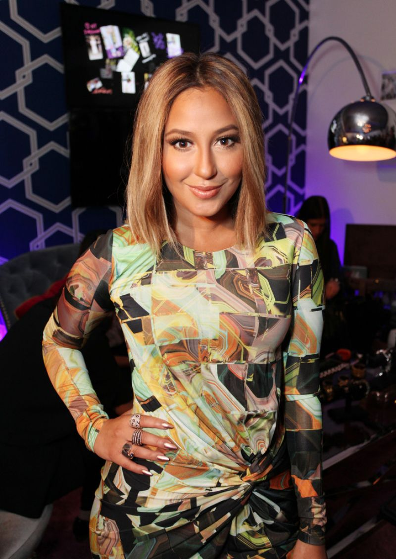 Adrienne Bailon At Samsung Galaxy Lounge At MBFW In NYC