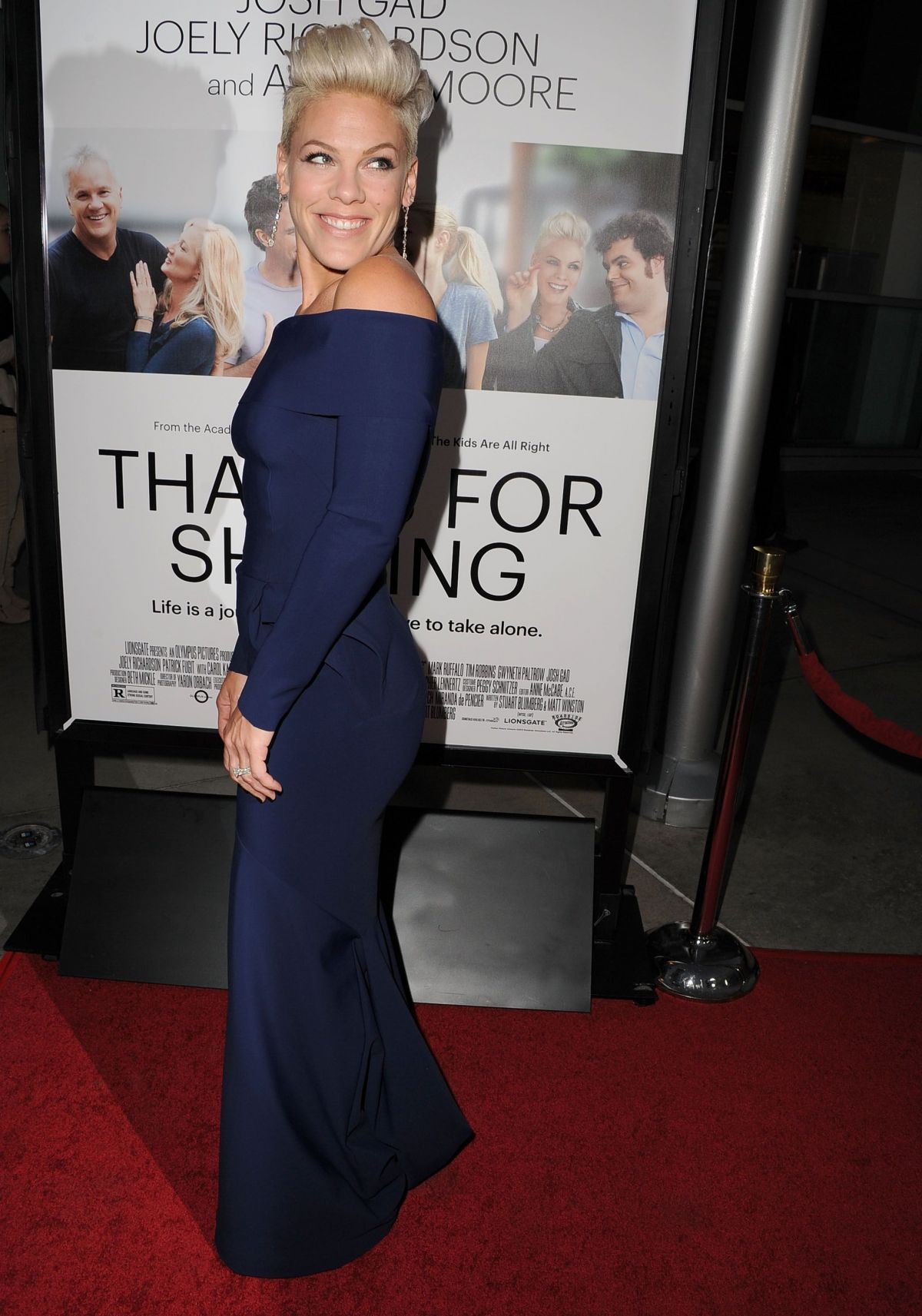 99757ddfd311 Alecia Beth Moore (Pink) At Thank You For Sharing Premiere In Hollywood
