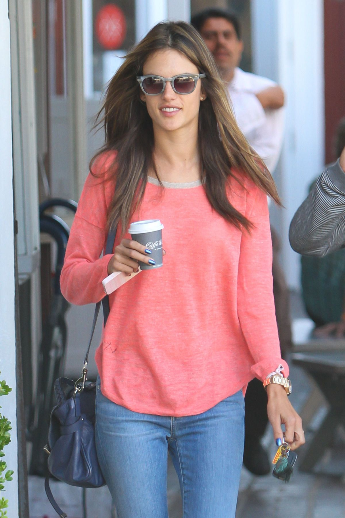 Alessandra Ambrosio Grabs Some Coffee While Shopping In LA