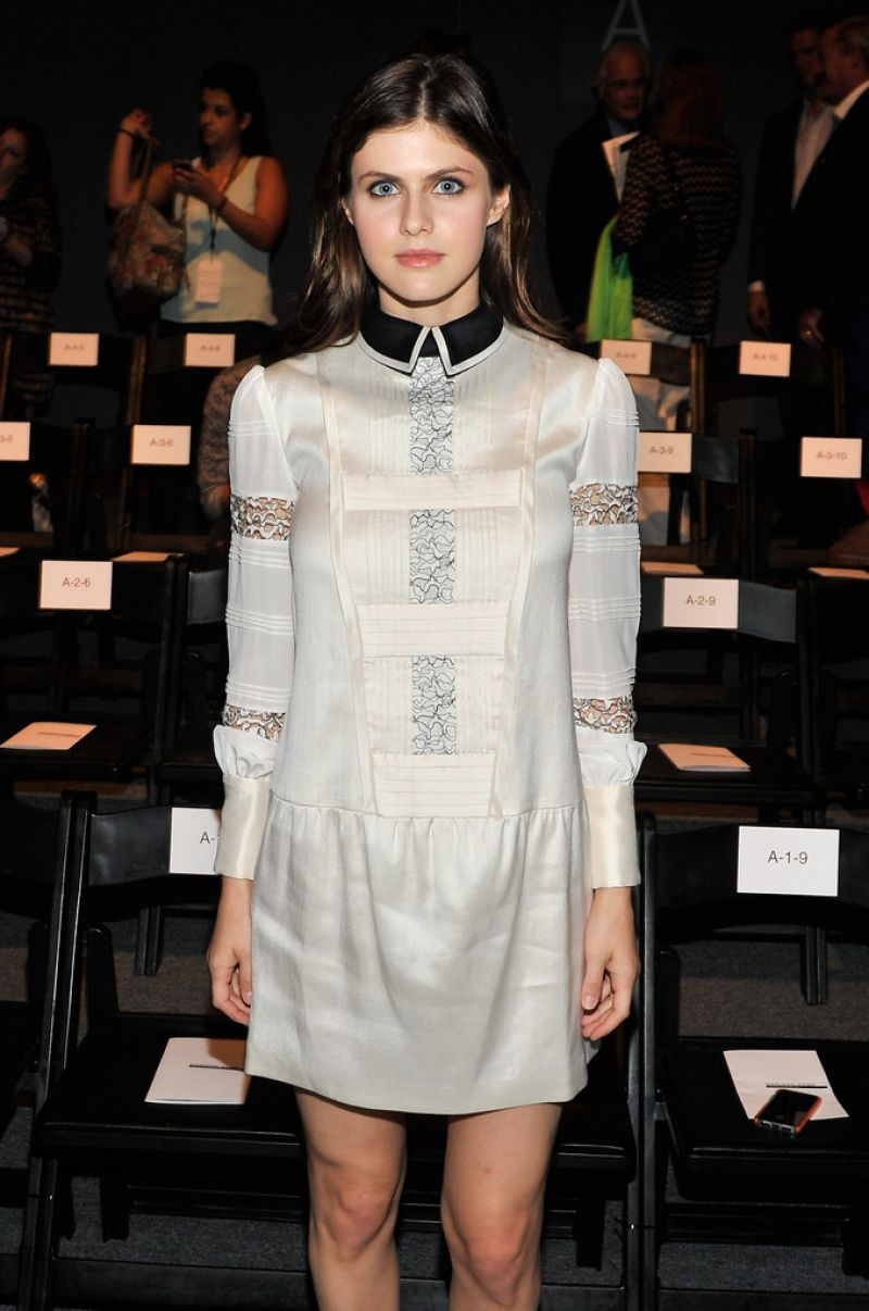 Alexandra Daddario At Marissa Webb Spring 2014 Fashion Show In NYC