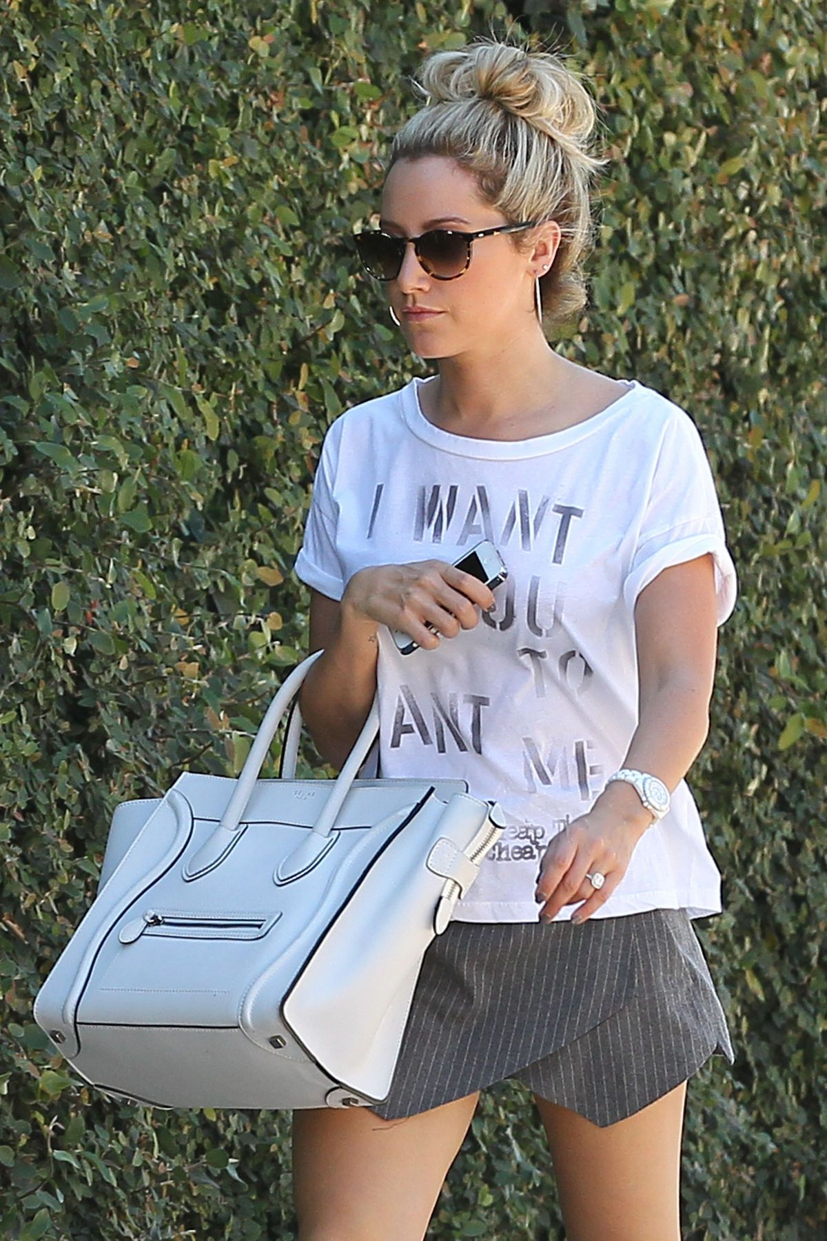 Ashley Tisdale Goes To A Studio In LA