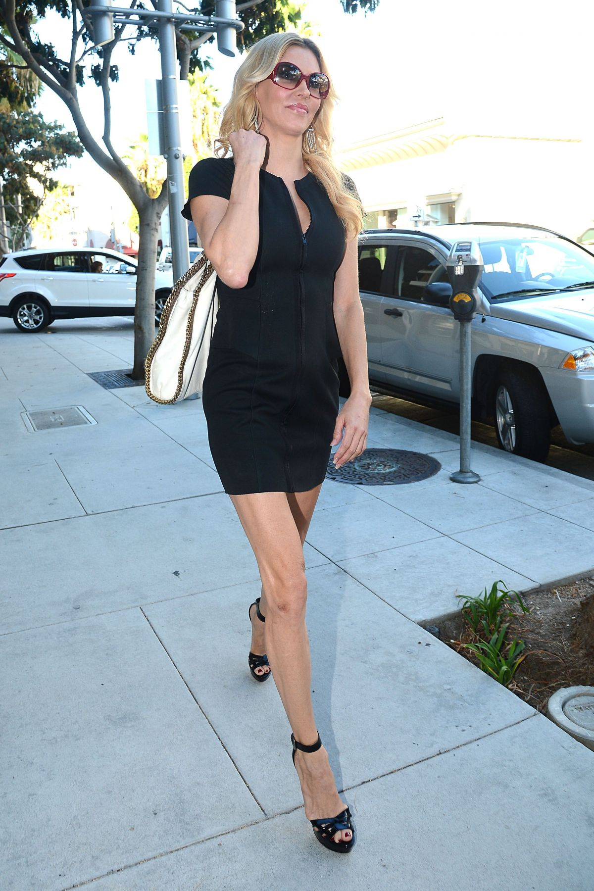 Brandi Glanville Leaves The Hotel in West Hollywood