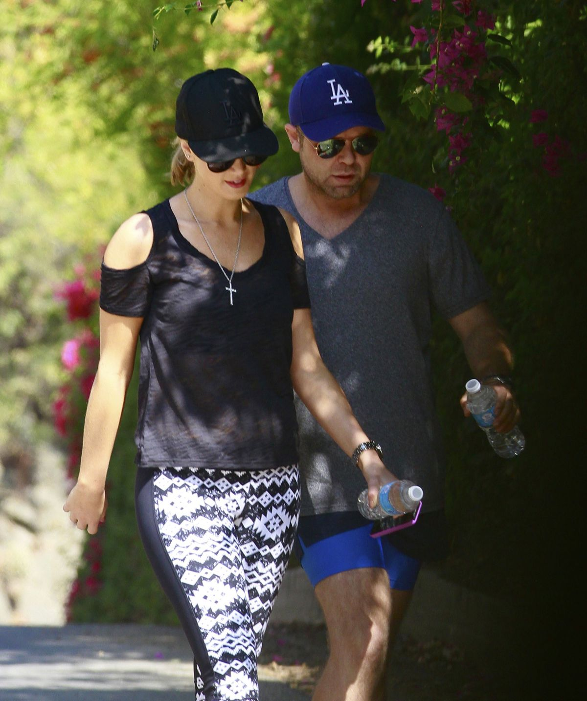 Delta Goodrem Hiking Near LA