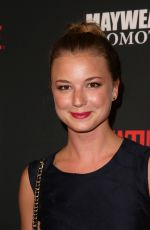 Emily VanCamp At The Mayweather Jr. vs Alvarez Boxing Match In Las Vegas
