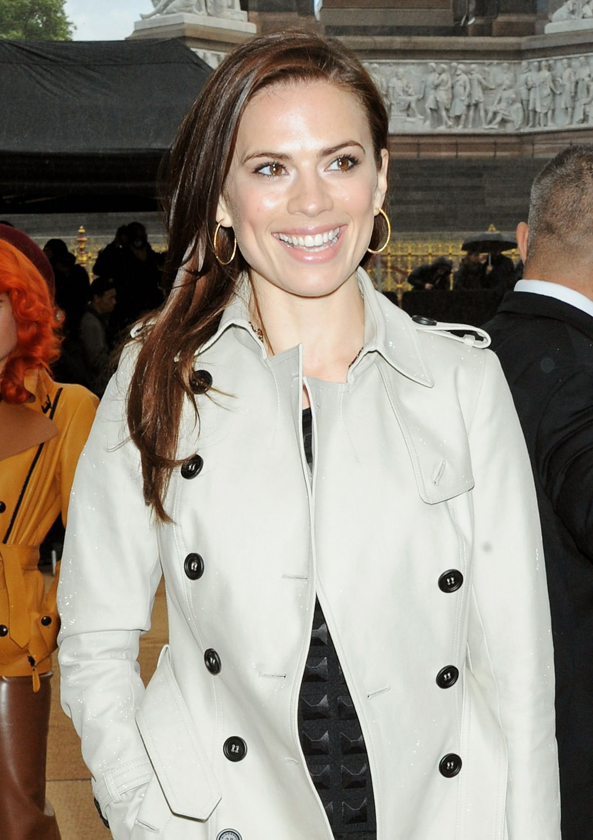 Hayley Atwell At The Burberry Prorsum Fashion Show In London