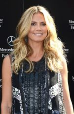 Heidi Klum At BCBGMaxazria Spring 2014 Fashion Show