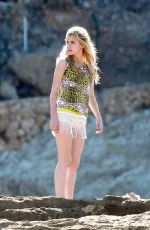 Imogen Poots On The Set Of A Long Way Down In Spain