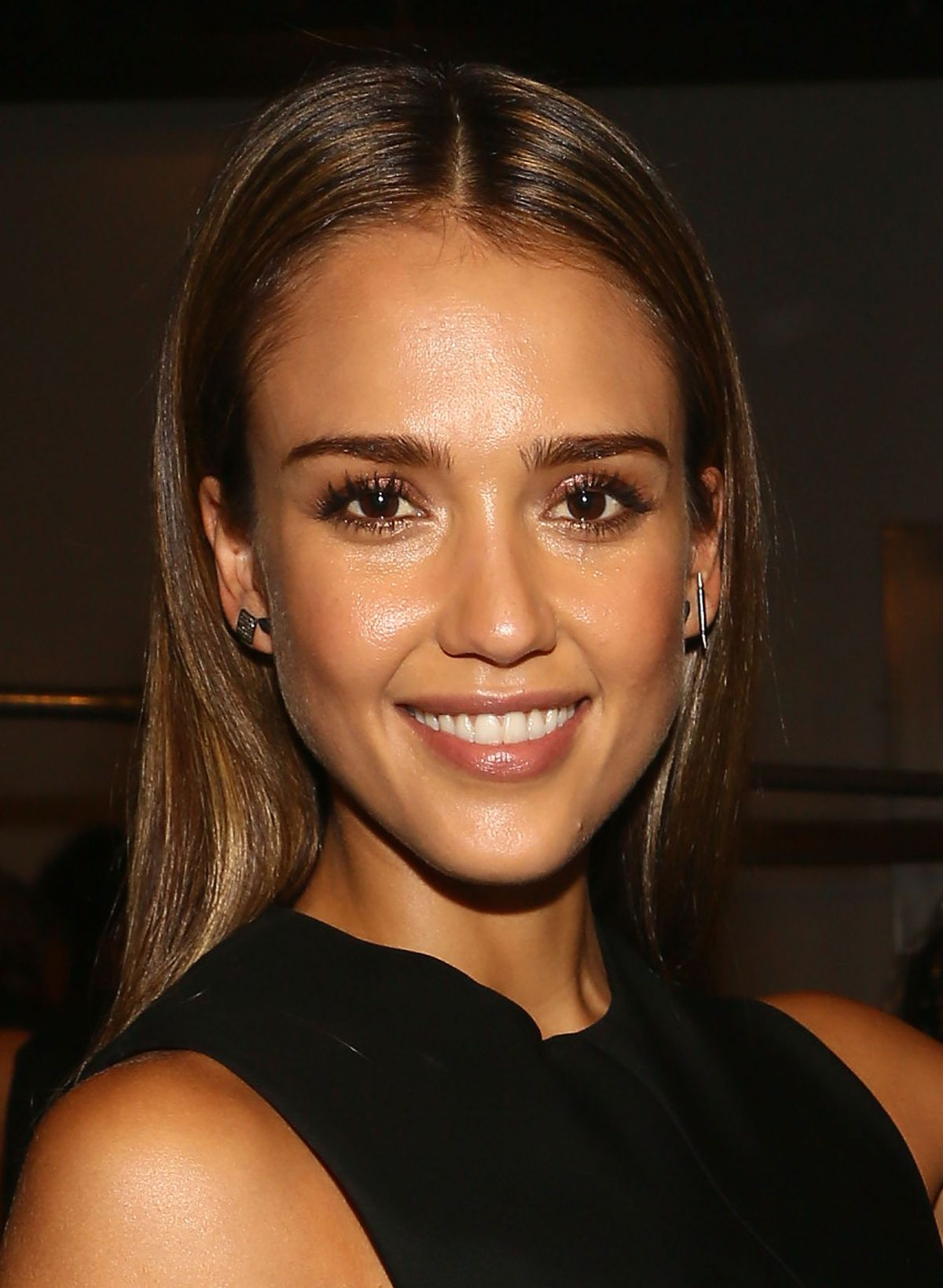 Jessica Alba At Narciso Rodriguez Spring 2014 Fashion Show In NYC