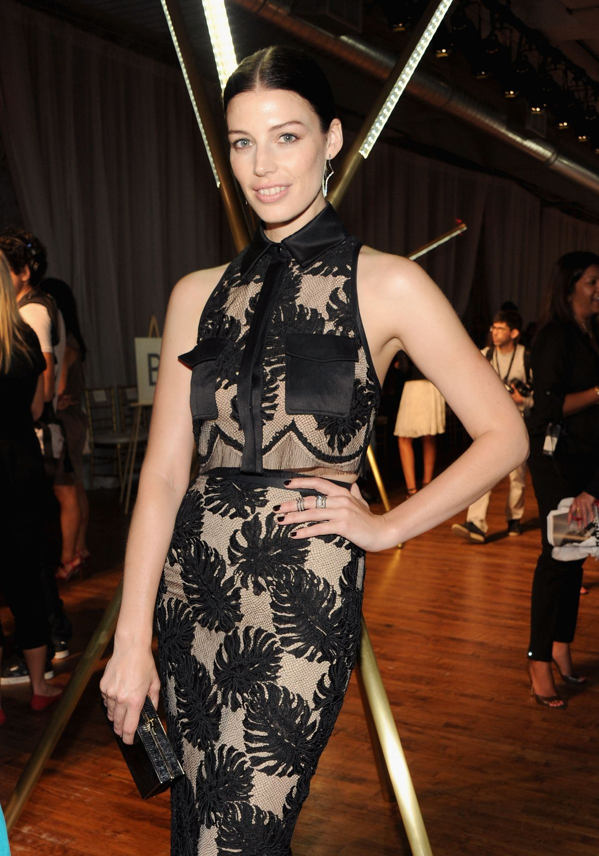 Jessica Pare At Jason Wu Spring 2014 Fashion Show