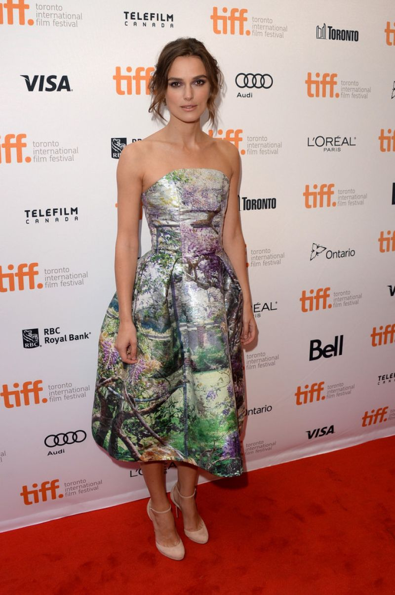 Keira Knightley At Can A Song Save Your Life Premiere At Toronto International Film Festival